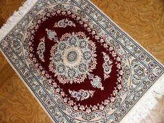 高級玄関マットナイン産ペルシャ絨毯58067、ペルシャ絨毯の仕上げ綺麗に出来てるマット