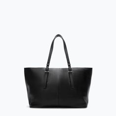 WOVEN LEATHER SHOPPER BAG-Handbags-Woman-SHOES & BAGS | ZARA United States