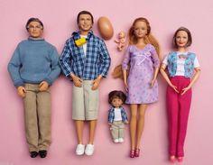 Pregnant Midge Barbie Doll Alan Ryan Grandpa Grandma Happy Family Baby Bump Lot