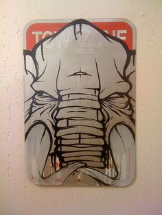 Tow zone. #graffiti #elephant