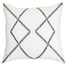 Check out this item at One Kings Lane! Crop Circles 18x18 Linen Pillow, White
