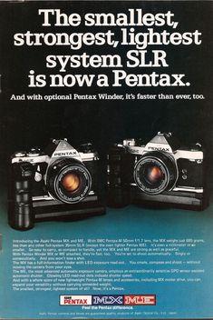 35mm slr camera ad Pentax taking a swipe at Olympus