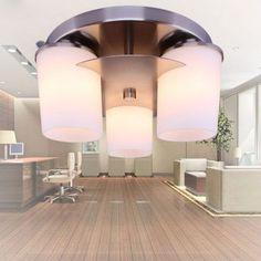 Modern Brief Glass Ceiling Lamp Fashion Three Lights Restaurant Bedroom Living Room Ceiling Lights