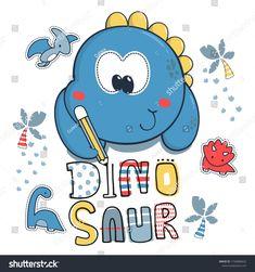 Cute Dinosaur, Baby Dress, Smurfs, Baby Boy, Draw, Culture, Cartoon, Writing, Illustration