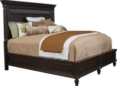 Jessa Panel Bed   The majestic Jessa Panel Bed is built with acacia solids and…
