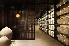 Japanese restaurant interior photographs unique style decorative design Stock Photo