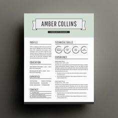 Modern Resume Template And Cover Letter For Word