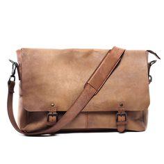 Holmes Raw Leather Messenger Bag