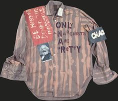 Malcolm McLaren et Vivienne Westwood, chemise « Only Anarchists are Pretty » (collection Seditionaries), 1976-1977 © Courtesy Estate of Malcom McLaren