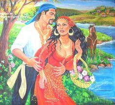 ciganinhas   Wladimir e Esmeralda
