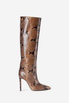 Paris Texas - Boots - Antonioli.eu Stilettos, Stiletto Heels, Paris Texas, Shoe Closet, Tall Boots, Camel, Brown, Shoes, Snake