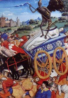 El carru de la muerte es  un carro que vuela por los cielos asturianos buscando a los moribundos para recoger el alma de este cuando fallece, en algunas historias se cuenta que de él baja la Güesti…