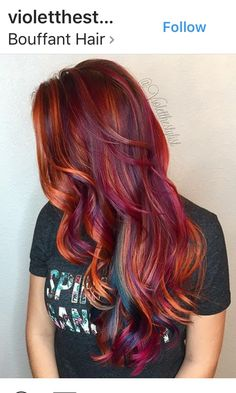 What better way to come back from vacation than a gorgeous, tropical color melt?… - New Hair Hair Color Purple, Cool Hair Color, Hair Colors, Burgundy Hair, Brown Hair, Burgundy Color, Color Red, Color Melting, Grunge Hair