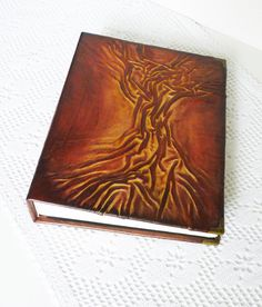 Leather Photo Album Hunter Gift Travel Album Rustic by AnnaKisArt