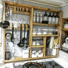 Rustic Kitchen, Kitchen Decor, Japanese Kitchen, Cabin Kitchens, Kitchen Cupboards, My Room, Decoration, Interior And Exterior, Sweet Home