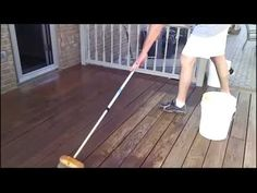 Want to stain your deck faster? Try a car wash brush. #DeckStainingTips https://www.youtube.com/watch?v=iwaJcn5Q3kg