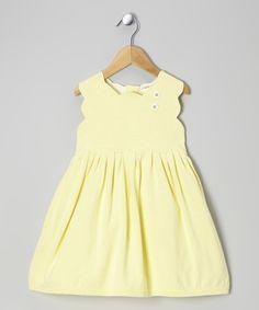 Finch Yellow Organic Sweater Dress - Infant, Toddler & Girls