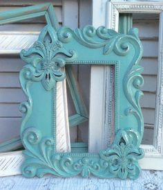 Hey, I found this really awesome Etsy listing at http://www.etsy.com/listing/155424027/fleur-de-lis-mint-white-wall-frame