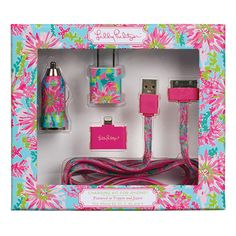 Lilly Pulitzer Charging Kit for iPhone - Trippin' and Sippin'