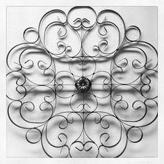 French Medallion Wall Art #wallart #oldworldpotteryofwichitafalls #medallion #french #metal