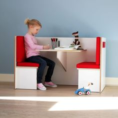 """The modular furniture series """"Archipel"""" is made of laminated birch plywood. Its clear forms create a multifunctional play island. The minimalist design is a perfect match for any kind of furniture: in kindergartens, doctor's offices, or even in a restaura Kids Room Furniture, Home Office Furniture, Home Office Decor, Cheap Furniture, Furniture Plans, Children Furniture, Furniture Design, Discount Furniture, Bedroom Furniture"""