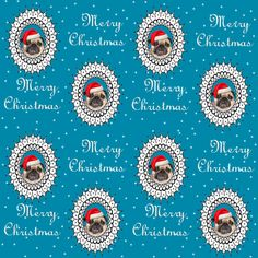 pug christmas fabric fabric by lil_creatures on Spoonflower - custom fabric