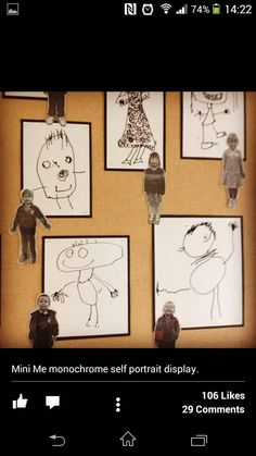 Mini me monochrome drawings from Abc does