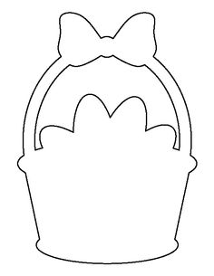 Easter basket pattern. Use the printable outline for crafts, creating stencils, scrapbooking, and more. Free PDF template to download and print at http://patternuniverse.com/download/easter-basket-pattern/