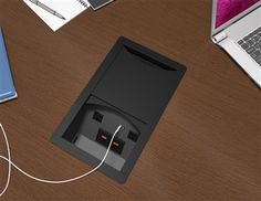 Clue #30 Across - This product is a sleek and powerful solution designed to tackle the challenges faced by today's meeting rooms.  Spill resistant receptacles, 2.1 Amp USB charging ports, and openings for telecom plates are provided on both sides of the unit providing users easy access from any seat.