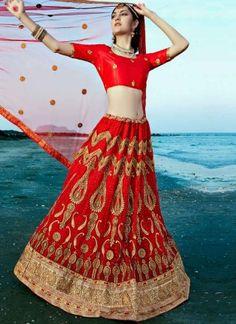 Maroon Embroidery Thread Work Designer Wedding Bridal Net Lehenga Choli http://www.angelnx.com/Lehenga-Choli/Wedding-Lehenga-Choli