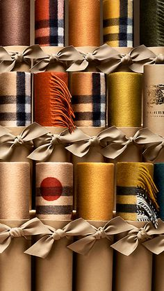 Camel check The Classic Cashmere Scarf in Heritage Check - 8 Scarf Packaging, Print Packaging, Diy Clothes Tags, Visiting Card Design, Gift Box Design, Burberry Scarf, Weaving Textiles, Designer Scarves, Scarf Design