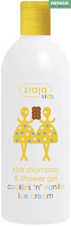 Das ZIAJA KIDS Shampoo & Duschgel mit Cookies und Vanille-Eis Duft ist ein Dufterlebnis für alle - nicht nur für die Kleinen! :)   Erhältlich bei: https://www.merkurmarkt.at   Es enthält D-Panthenol, pflegende Wirkstoffe und milde Waschsubstanzen pflanzlicher Herkunft.  Schützt die Haut vor dem Austrocknen.  Wäscht besonders schonend das Haar und die Haut.  Erleichtert das Kämmen.  Von Kindern über dem 3. Lebensjahr unter dermatologischer und kinderärztlicher Kontrolle getestet.