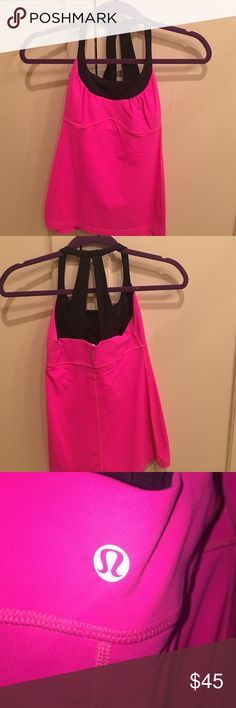 LULULEMON PINK TOP LULULEMON pink top Size 4 Perfect condition Rare top. Not made anymore lululemon athletica Tops Tank Tops