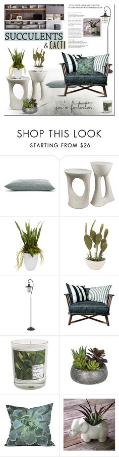 """""""Cacti + Succulents"""" by milica1940 ❤ liked on Polyvore featuring interior, interiors, interior design, home, home decor, interior decorating, Souda, Home Decorators Collection, Gervasoni and Maison La Bougie"""