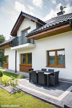 Dom w sansewieriach Hallway Designs, Nordic Home, Modern Architecture House, Home Fashion, Building A House, House Plans, Sweet Home, Farmhouse, House Design