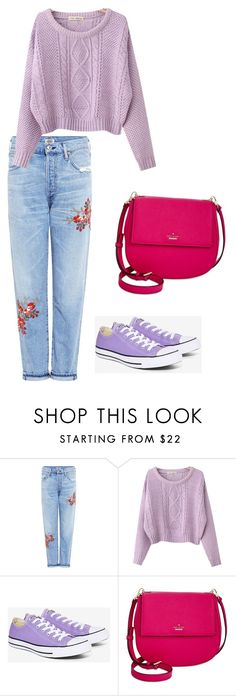 """Eleanor Ross"" by cmorck7 ❤ liked on Polyvore featuring Citizens of Humanity, Chicnova Fashion, Converse and Kate Spade"
