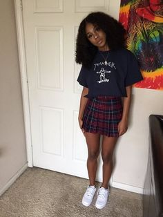 Dope Black Girl Fashion - The Effective Pictures We Offer You About skirt outfits A quality picture can tell you many things - Dope Outfits, Skirt Outfits, Fall Outfits, Summer Outfits, Casual Outfits, Outfits For Black Girls, Hipster Outfits, Grunge Outfits, Simple Outfits
