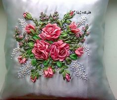 Wonderful Ribbon Embroidery Flowers by Hand Ideas. Enchanting Ribbon Embroidery Flowers by Hand Ideas. Ribon Embroidery, Ribbon Embroidery Tutorial, Crewel Embroidery Kits, Hand Embroidery Patterns, Ribbon Art, Ribbon Crafts, Fabric Roses, Brazilian Embroidery, Creations