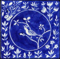 Emery & cie - Tiles - Blue Pottery - Models - Page Oiseaux