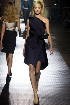 Lanvin, 2013. Femme bow, one-shoulder style. Beautiful & chic.