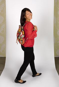 Jenn carries ...the Backpack Tote in Bittersweet (as a backpack!)
