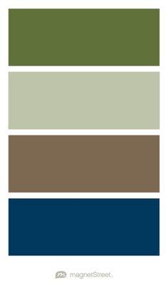 Olive, Sage, Latte, and Navy Wedding Color Palette - custom color palette created at MagnetStreet.com