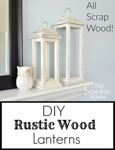 Teds Wood Working - a great way to get rid of scrap wood diy rustic wood lanterns, diy, home decor, rustic furniture, woodworking projects (Diy Wood Work To Get) - Get A Lifetime Of Project Ideas & Inspiration! Scrap Wood Projects, Easy Woodworking Projects, Woodworking Furniture, Diy Projects, Woodworking Plans, Popular Woodworking, Woodworking Workshop, Woodworking Quotes, Intarsia Woodworking