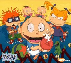 Rugrats, everyone including the adults sat on the couch and watched the entire marathon day.