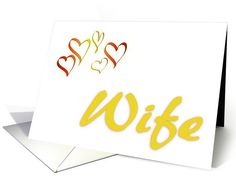 Happy Valentine's Day-For Wife-Hearts card. Thank you customer in Florida!