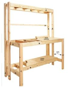 How to Build a Workbench: Super Simple $50 Bench | The Family Handyman/ Or easily converted to a potting bench!