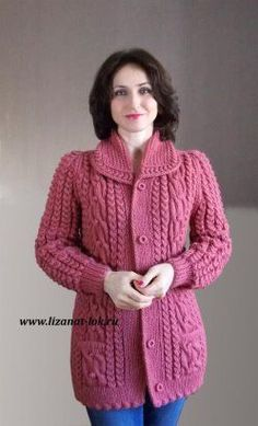 This post was discovered by Лу Ladies Cardigan Knitting Patterns, Knit Cardigan Pattern, Sweater Knitting Patterns, Crochet Cardigan, Knitting Designs, Baby Knitting, Knit Headband Pattern, Gilet Long, Knitwear Fashion