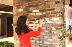 "**How to Whitewash Bricks - SAFE PAINT natural paint that let's the bricks ""breathe"" Fireplace Update, Brick Fireplace Makeover, Fireplace Remodel, White Wash Brick Fireplace, Painted Brick Fireplaces, How To Paint Fireplace, Whitewash Stone Fireplace, Brick Fireplace Decor, Fake Brick Wall"