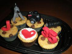 Cupcakes de trocitos de chocolate, para un fotógrafo!