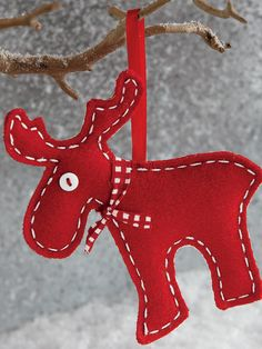 Moose Ornaments (Set of 2) by Tag at Gilt